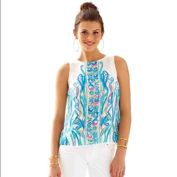 29097507b0e740 Lilly Pulitzer Tops - Lilly Pulitzer Iona silk top